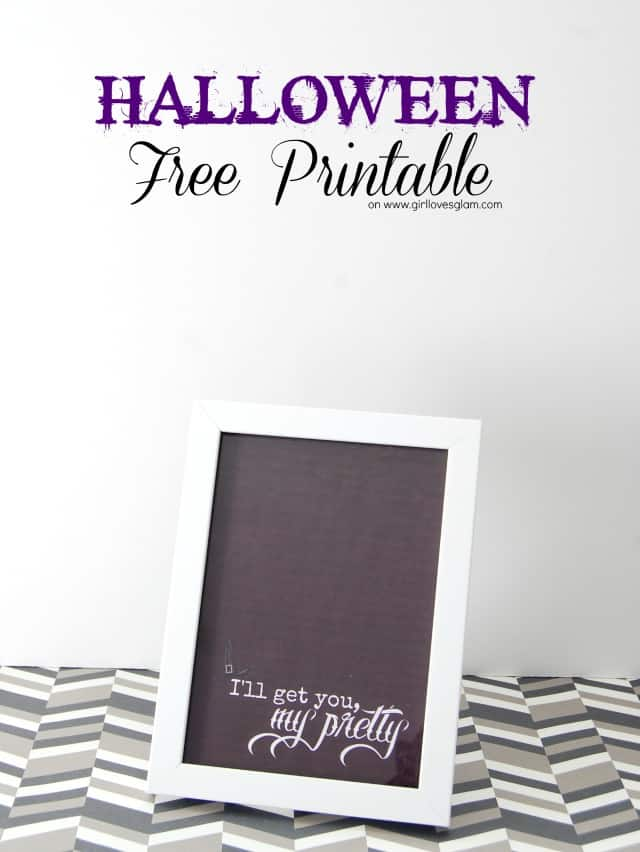 Wizard of Oz inspired Halloween Free Printable on www.girllovesglam.com #decor #halloween #picture