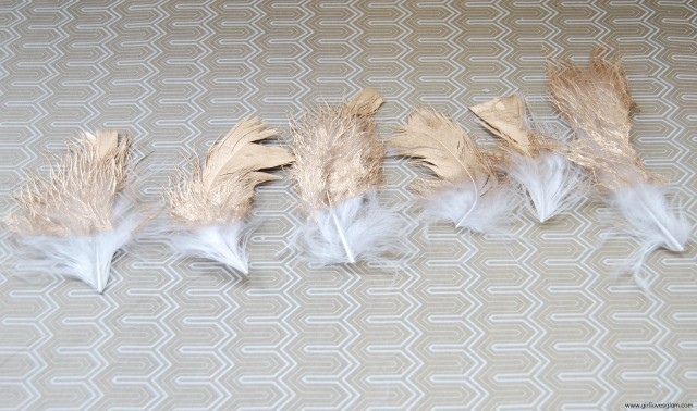 DIY Gold Dipped Feathers on www.girllovesglam.com #diy #tutorial