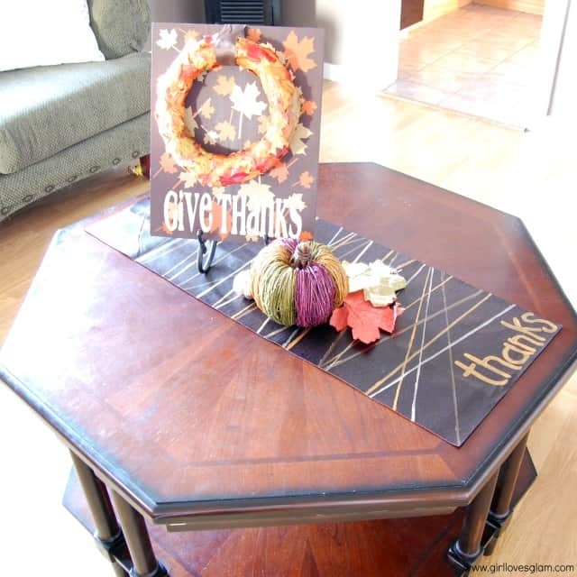Faux Leather Thanksgiving Table Runner