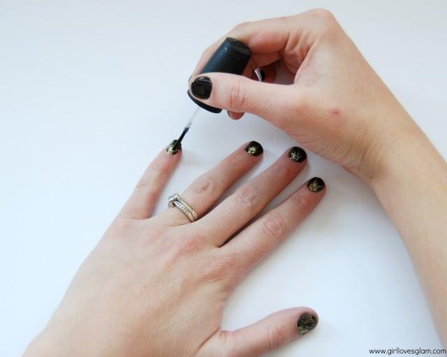 Glitter Burst Nails