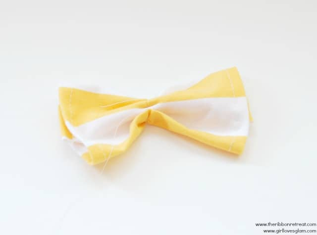 how to make a fabric bow tutorial