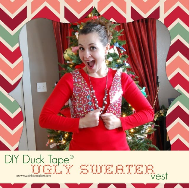 Duck tape ugly christmas sweater vest girl loves glam solutioingenieria Choice Image
