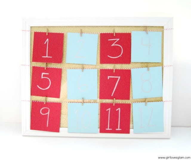 DIY Instagram Christmas Advent Calendar