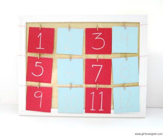 DIY Instagram Christmas Advent Calendar