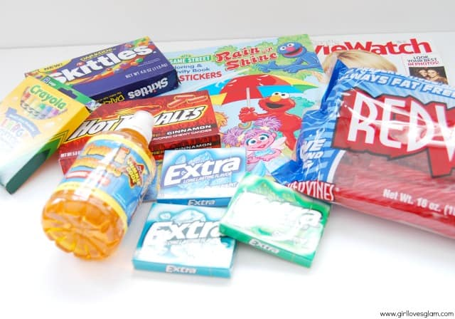 Holiday Travel Survival Kit Contents with Wrigley Gum #shop