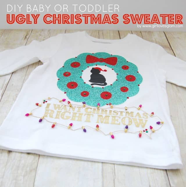 DIY Baby or Toddler Ugly Christmas Sweater - Girl Loves Glam