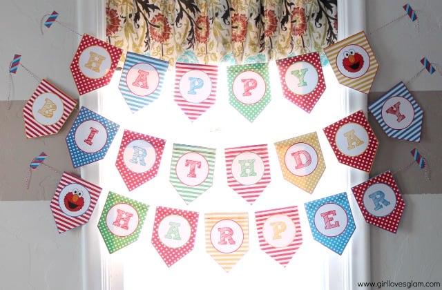 Elmo Happy Birthday Banner