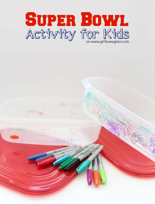 Super Bowl Coloring Activity for Kids on www.girllovesglam.com #craft #project #kid