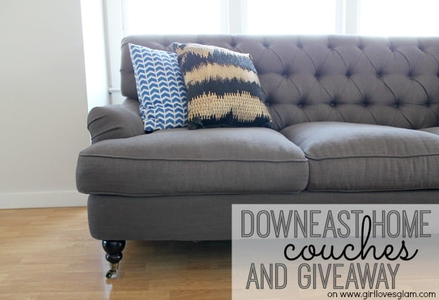 DownEast Home Couches and giveaway