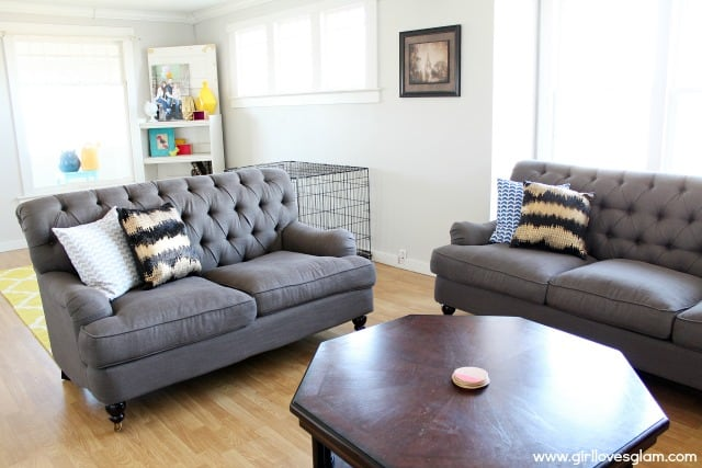 Living Room Makeover Couches Giveaway Girl Loves Glam