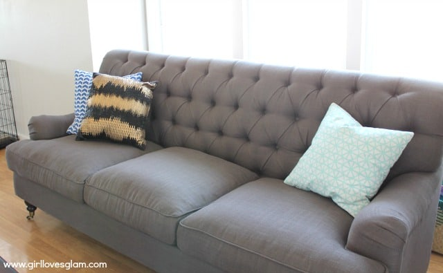 DownEast Home Gray Couch