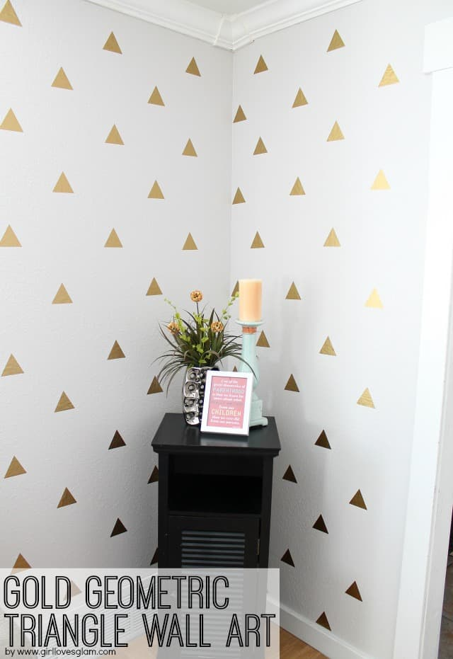Gold Geometric Triangle Decal Wall Art