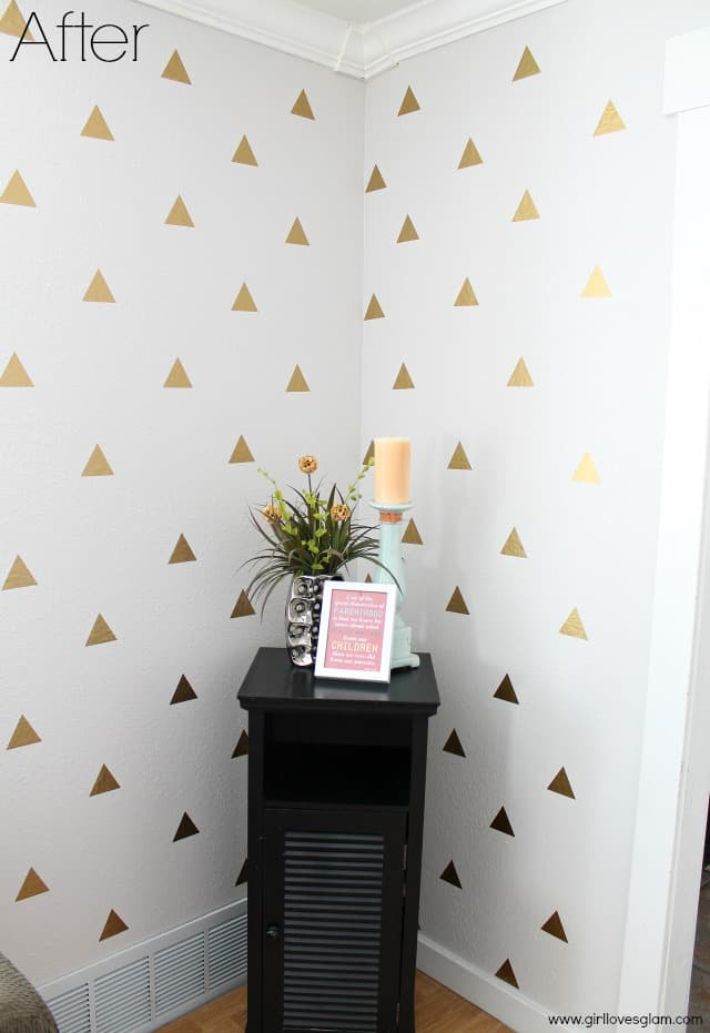 Gold Triangle Decal Wall Art