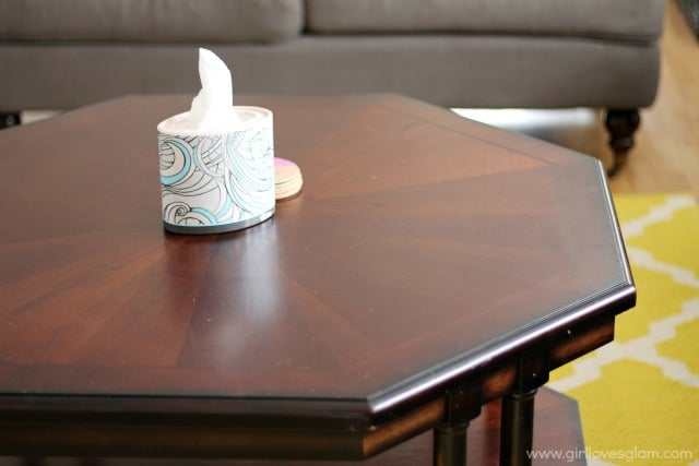 Living Room Details with Kleenex Expressions
