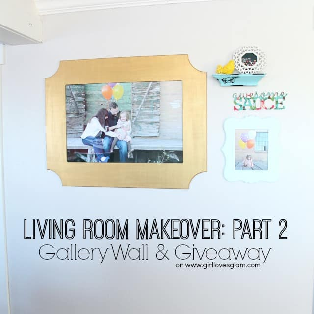 Living Room Makeover Gallery Wall and Giveaway