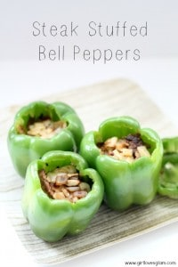 Stuffed Bell Pepper Recipe that is healthy and delicious. #recipe #food #steak