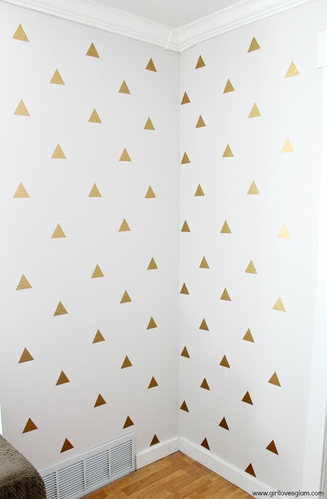 Vinyl Cutter Software >> Gold Geometric Triangle Decal Wall Art - Girl Loves Glam