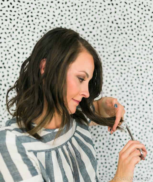 How to point cut hair