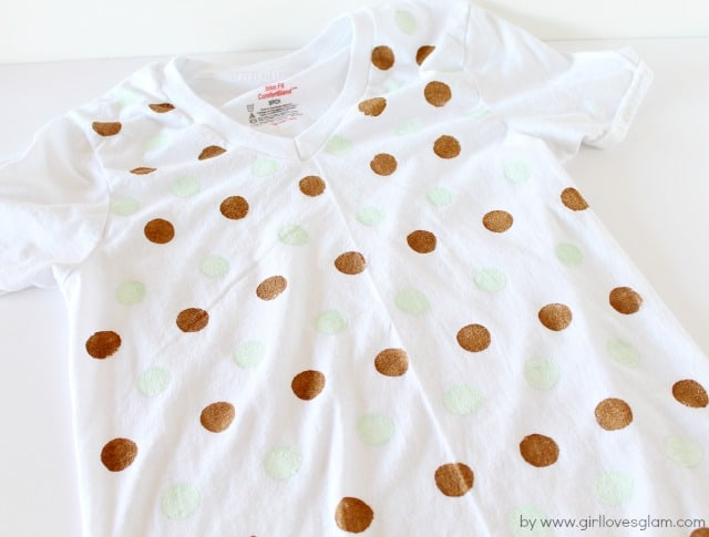DIY Polka Dot Shirt Tutorial