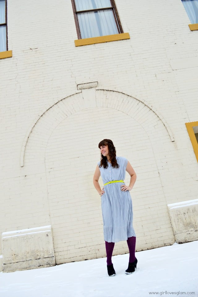 Gray pleated dress for Spring