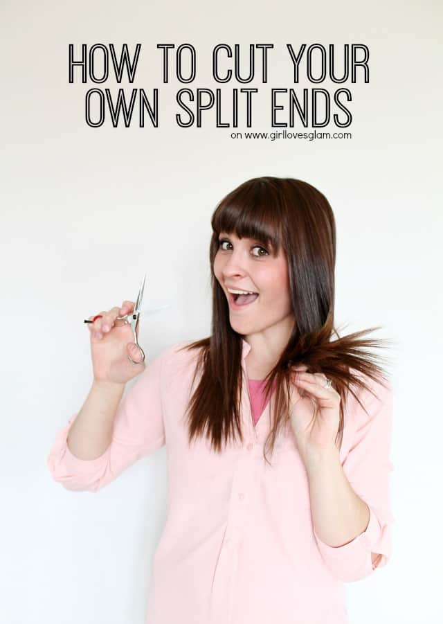 How to cut your own split ends on www.girllovesglam.com #beauty #hair #tutorial