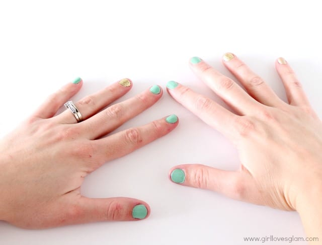 Spring nail art tutorial on www.girllovesglam.com #tutorial #beauty #nails