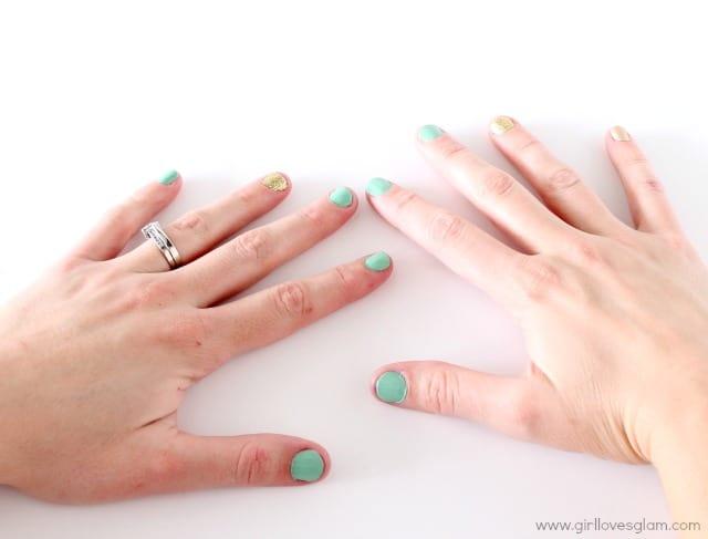 Spring nail art tutorial on www.girllovesglam.com #tutorial #beauty #nails