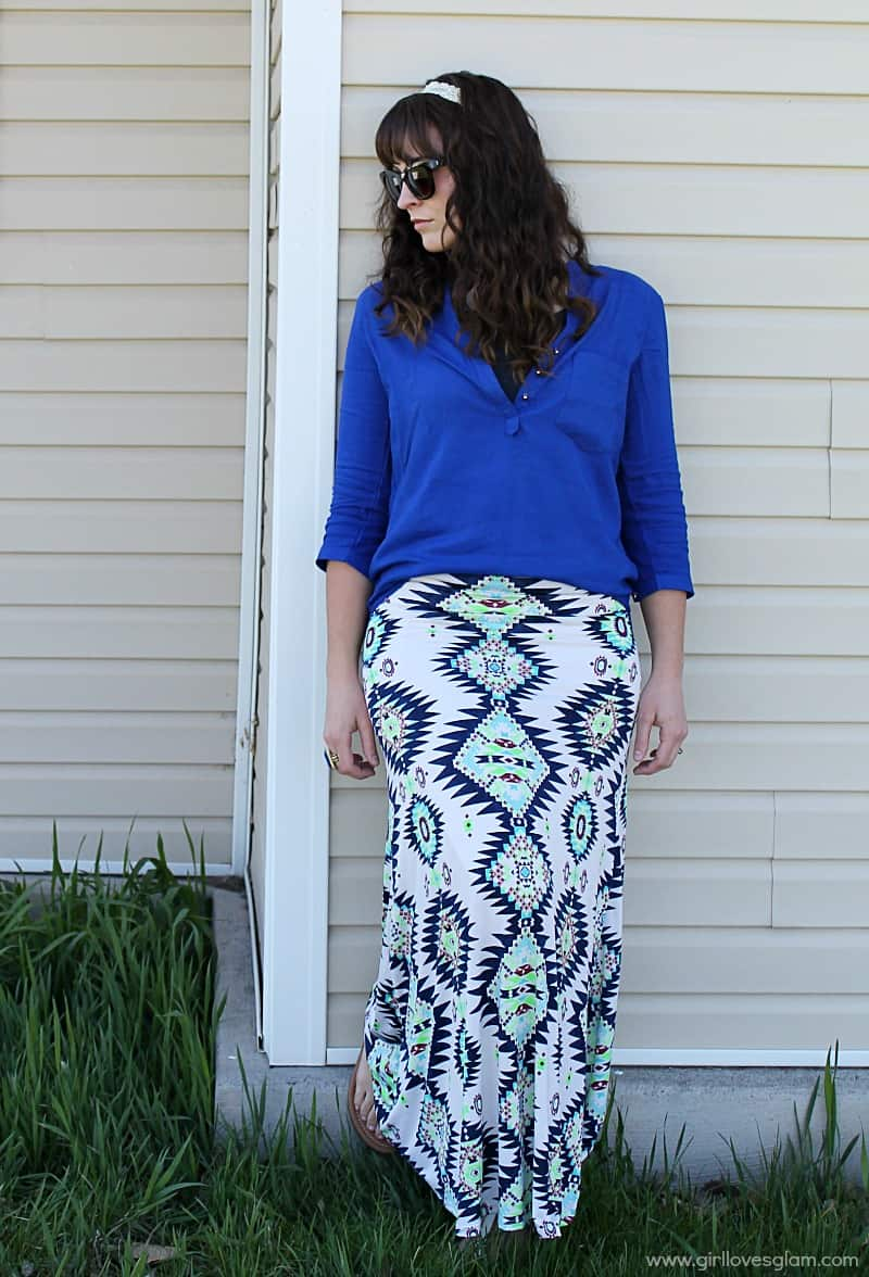 Casual Summer Maxi Skirt Outfit
