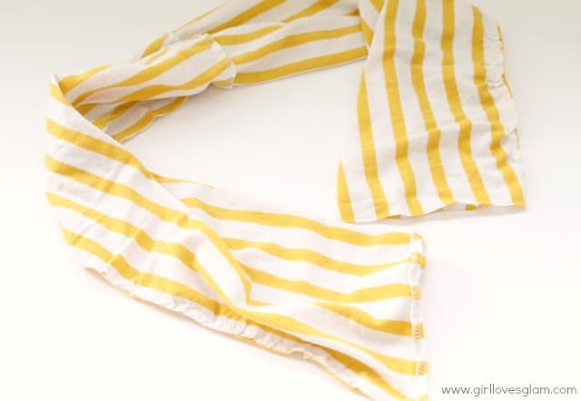 how to sew an infinity scarf from tshirt
