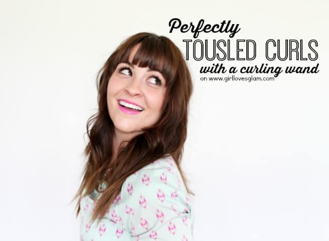 How to create perfectly tousled curls with a curling iron on www.girllovesglam.com