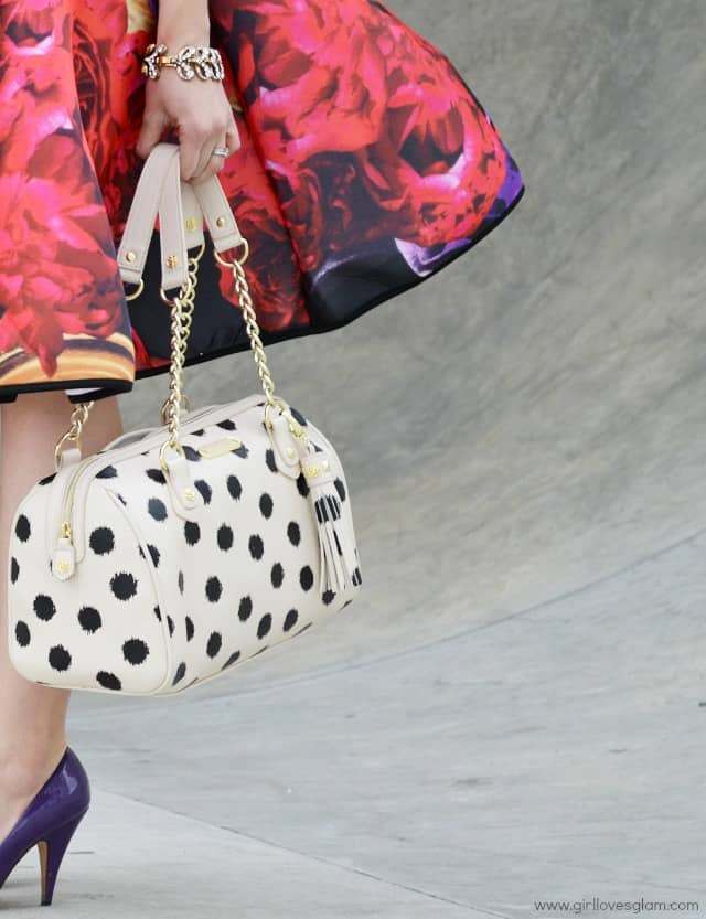 Polka dot Betsey Johnson Purse