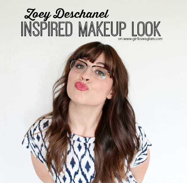 Zoey Deschanel Inspired Makeup look on www.girllovesglam.com #shop #makeup