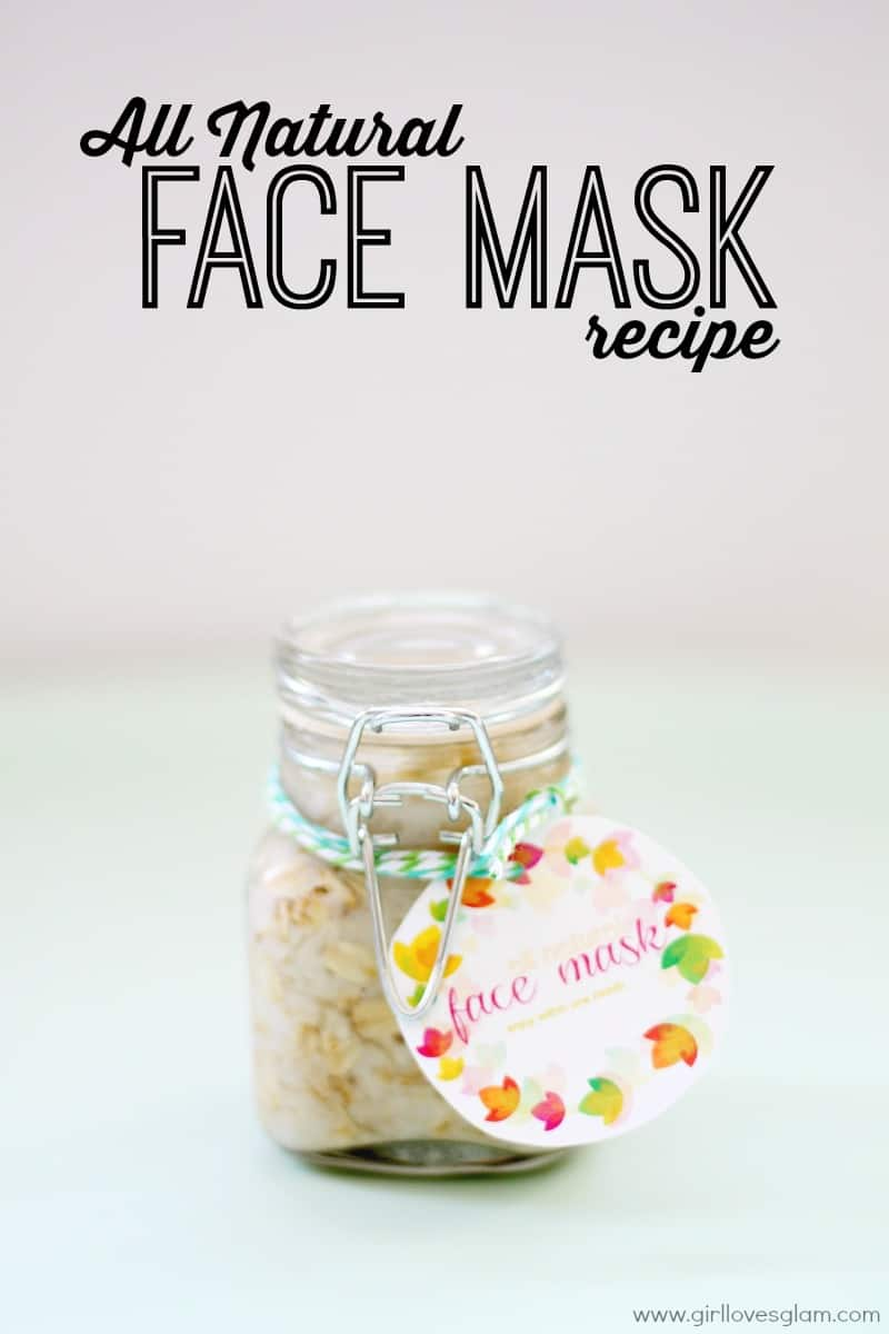 Homemade All Natural Face Mask Recipe on www.girllovesglam.com