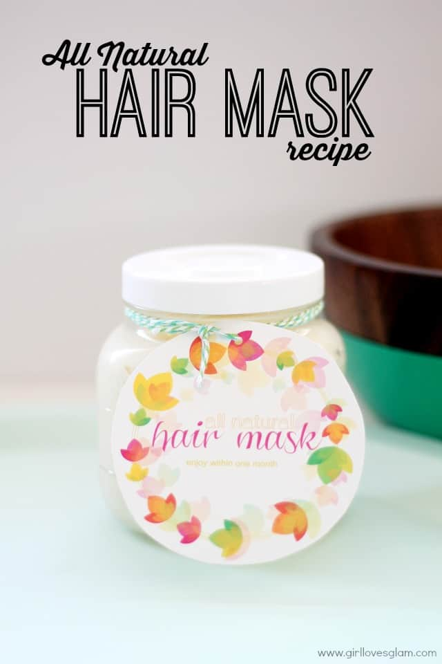 Homemade All Natural Hair Mask Recipe on www.girllovesglam.com