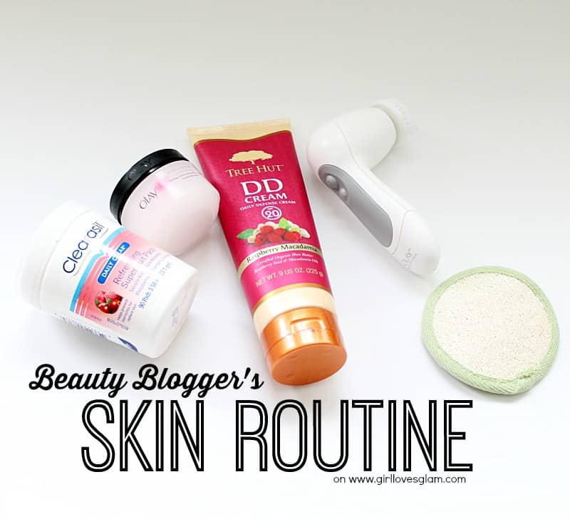 beauty blogger's skin routine on www.girllovesglam.com