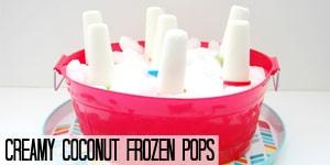 Creamy Coconut Frozen Pops