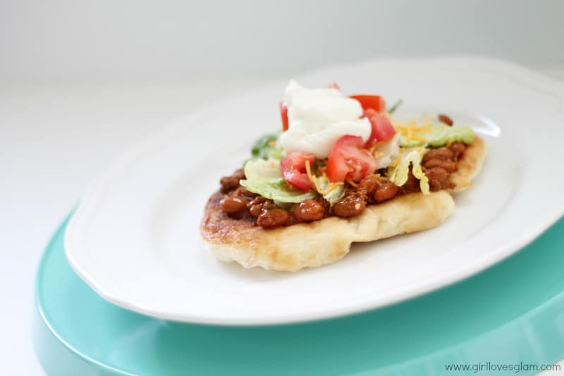 Easy Navajo Taco Recipe that only takes 5 minutes to cook! on www.girllovesglam.com