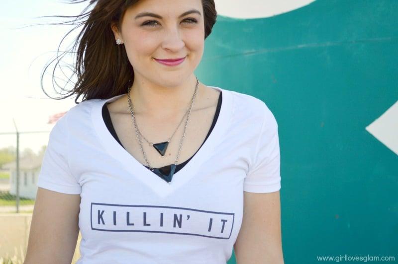 Killin' It Tee featured on www.girllovesglam.com