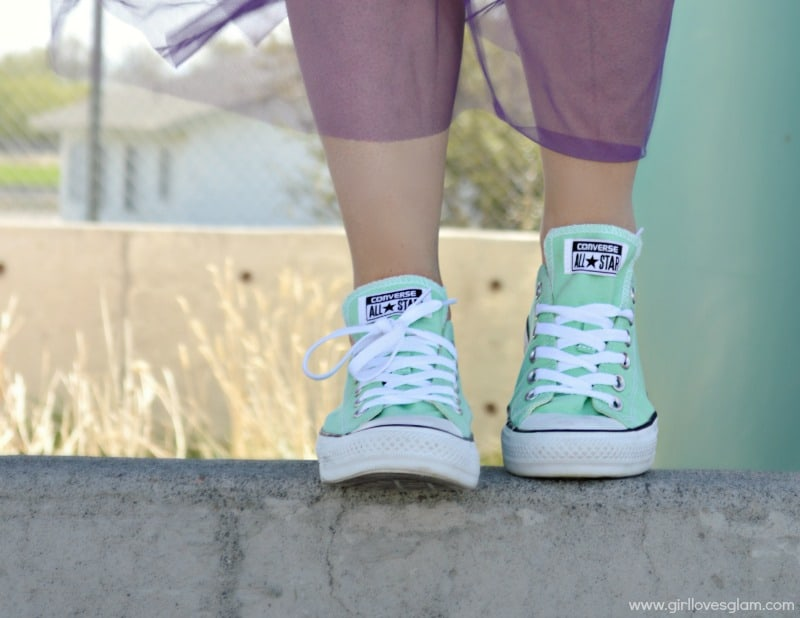 Mint Green Converse All Star Shoes outfit on www.girllovesglam.com