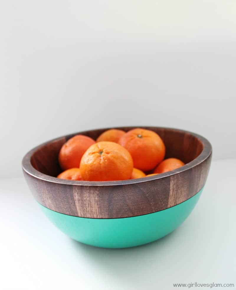Turquoise Wooden Bowl from Red Envelope
