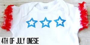 4th of July Onesie