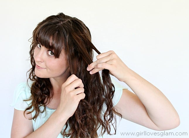 Easy Braided hair tutorial on www.girllovesglam.com