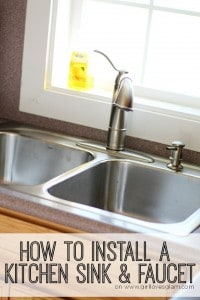 How to install a kitchen sink tutorial on www.girllovesglam.com