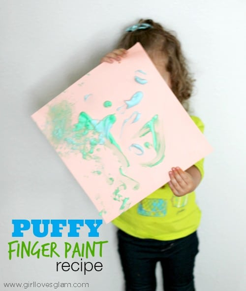 Puffy Finger Paint Recipe on www.girllovesglam.com