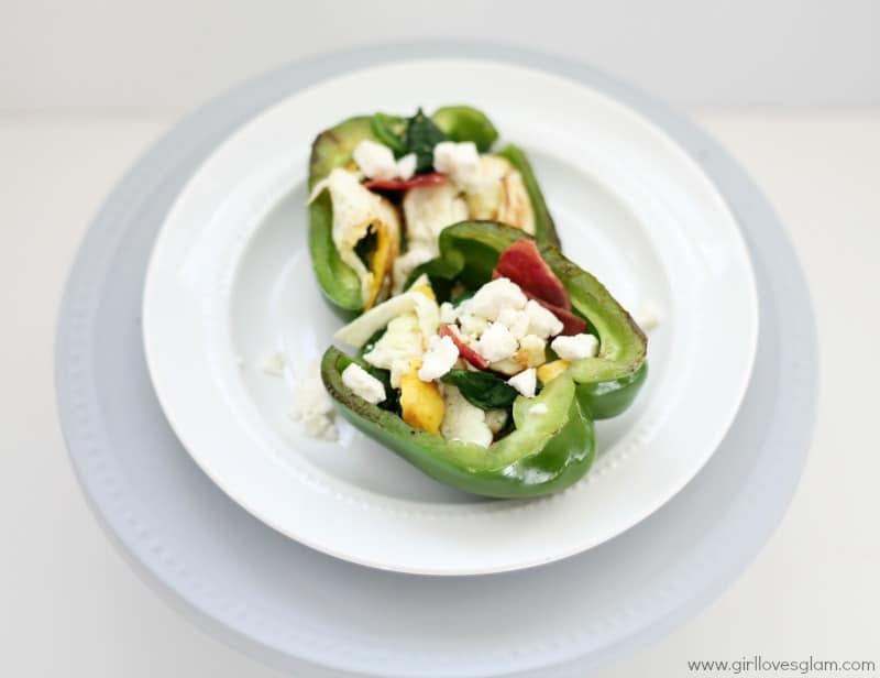 Stuffed Breakfast Peppers on www.girllovesglam.com