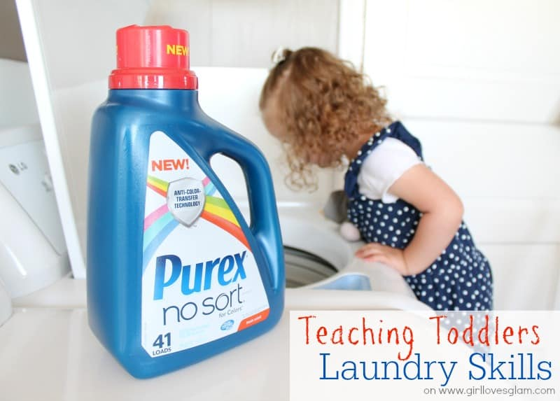 Teaching Toddlers Laundry Skills