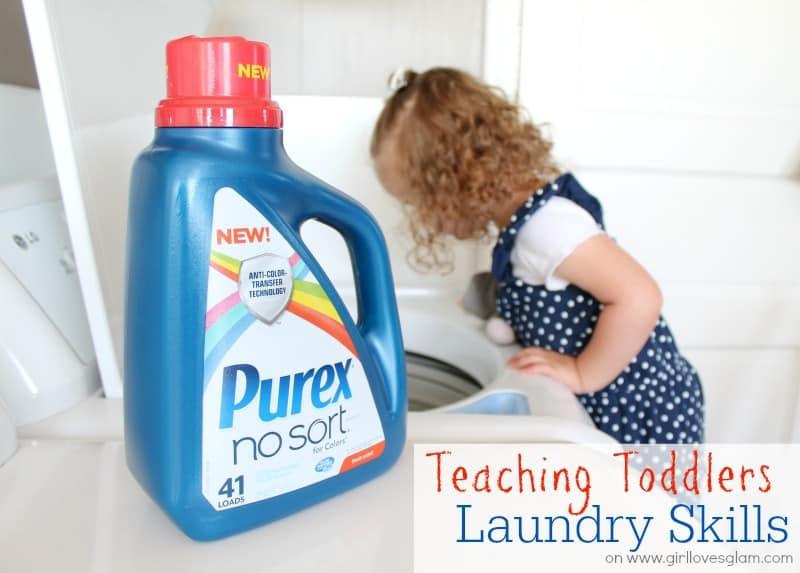 Teaching Toddlers Laundry Skills