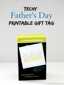 Techy Father's Day Printable Gift Tag on www.girllovesglam.com