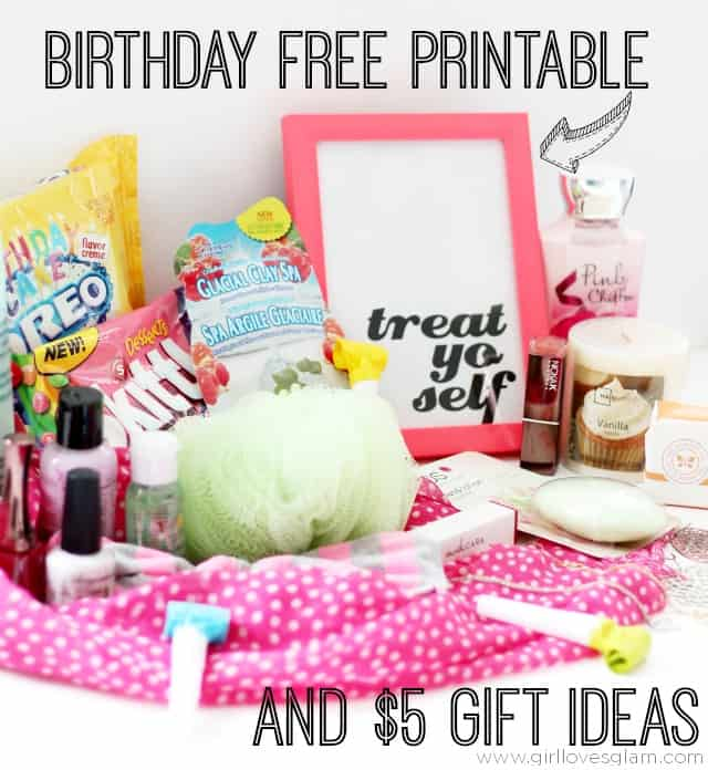 Birthday Free Printable and $5 Gift Ideas on www.girllovesglam.com