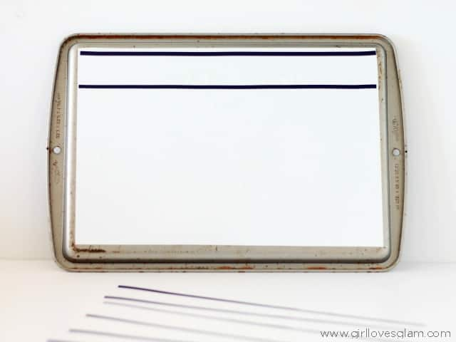 DIY lined dry erase board on www.girllovesglam.com